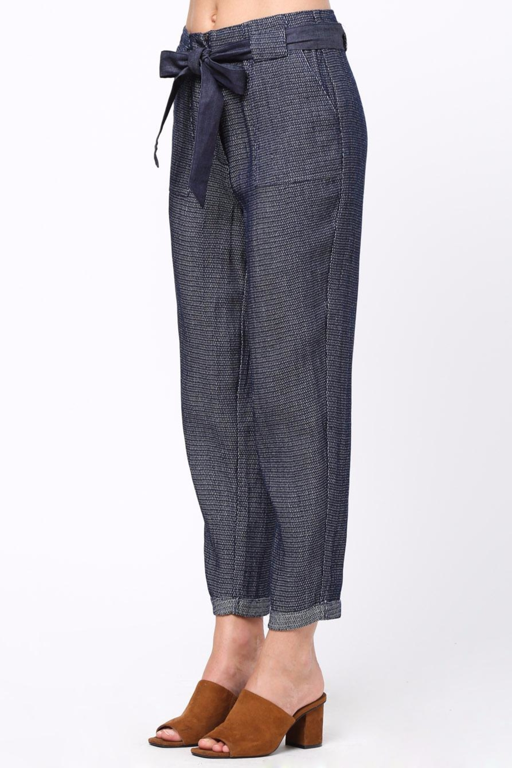 Movint Frayed Seam Trouser - Side Cropped Image