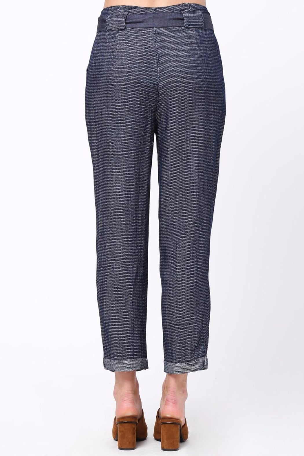 Movint Frayed Seam Trouser - Front Full Image