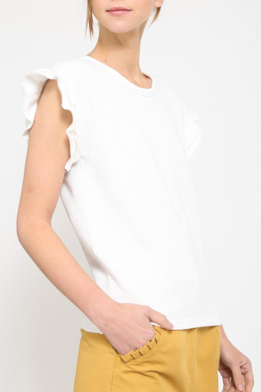 Movint Frill Sleeveless Top - Front Full Image