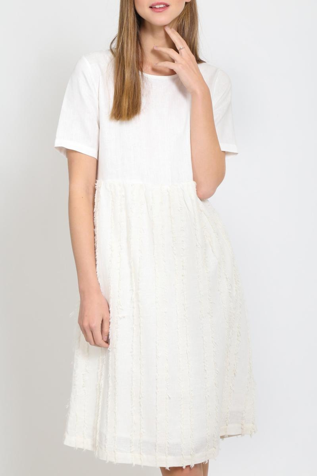 Movint Fringe Stripe Dress - Main Image