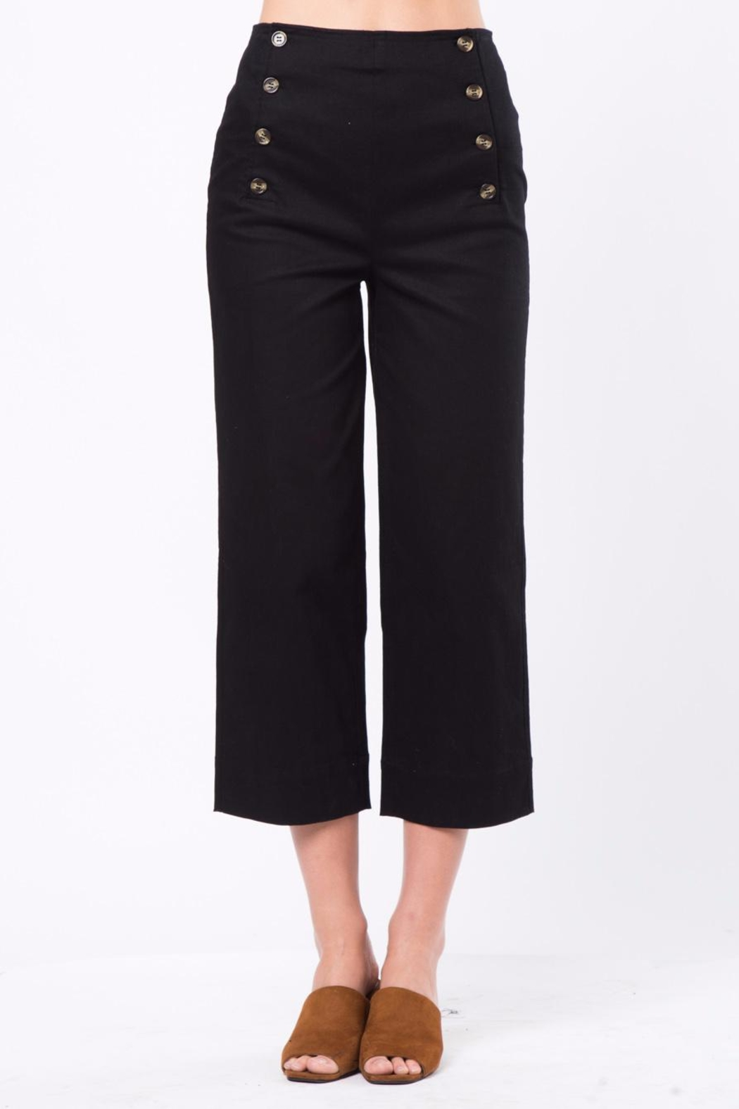 Movint Front Button Detail Pants - Front Cropped Image