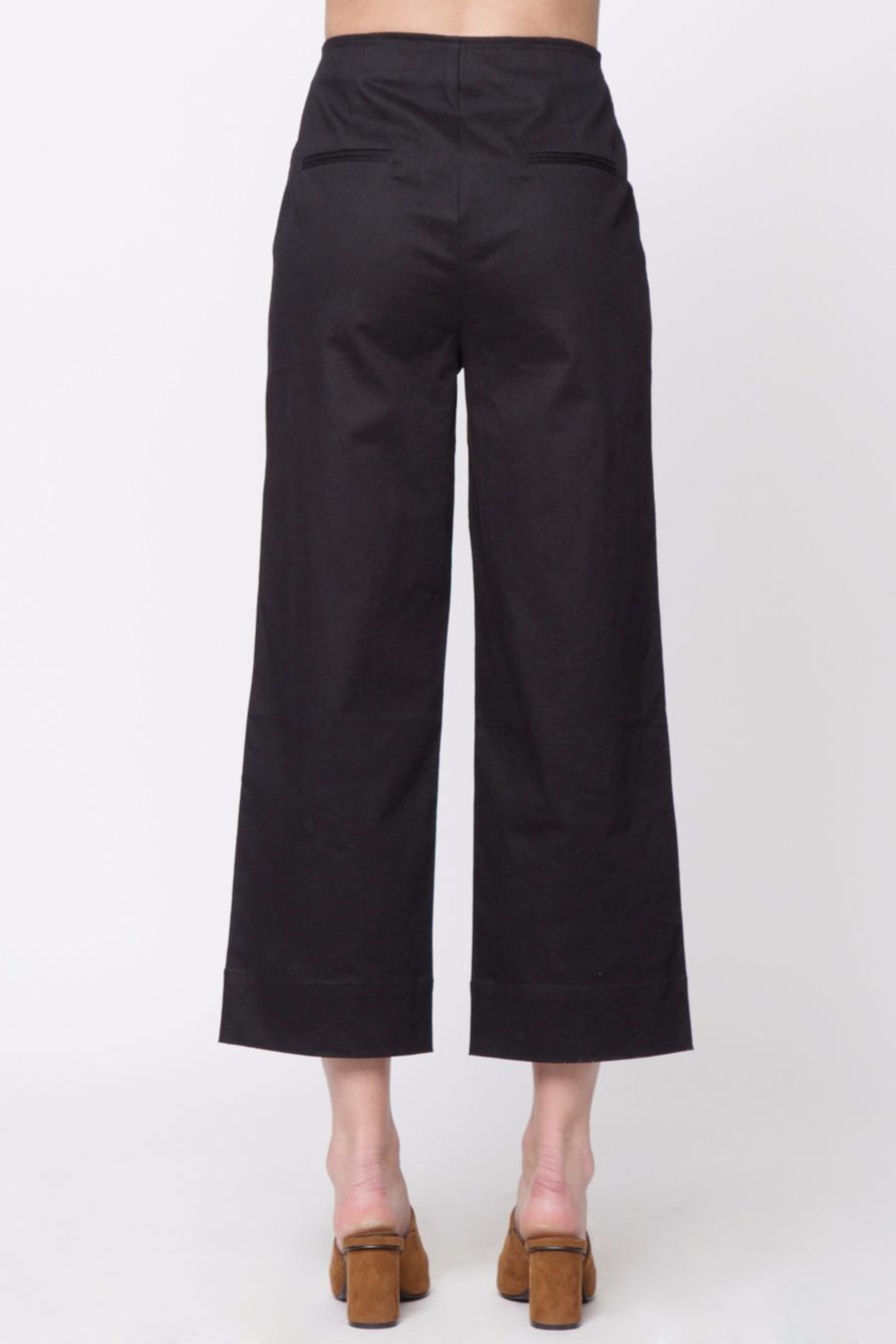 Movint Front Button Detail Pants - Front Full Image