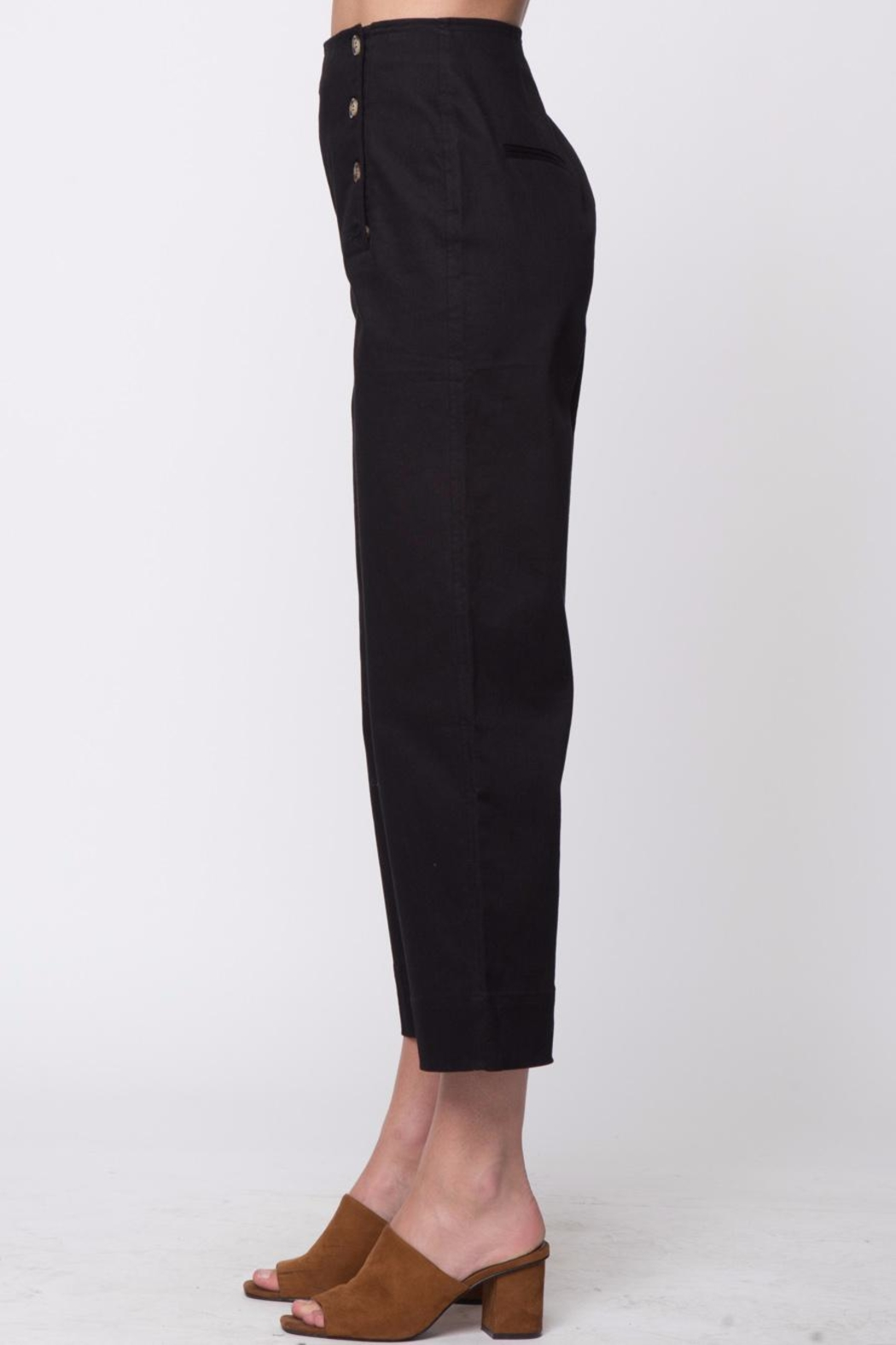 Movint Front Button Detail Pants - Side Cropped Image