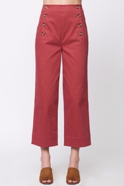 Movint Front Button Detail Pants - Front cropped