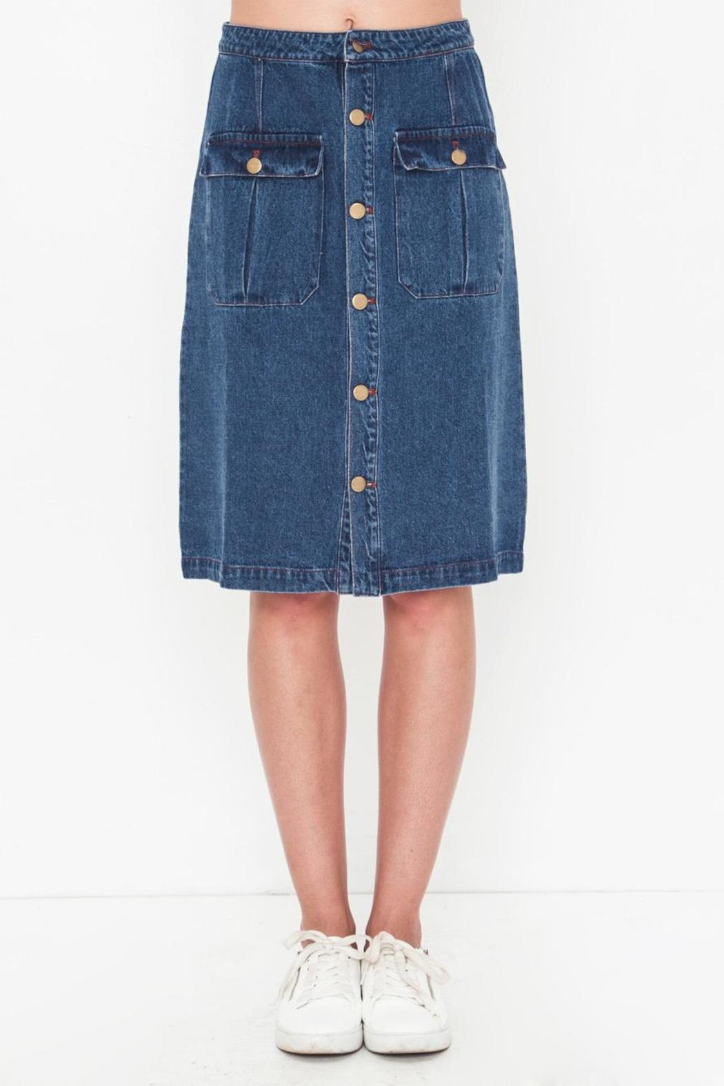 Movint Denim Knee Skirt - Main Image
