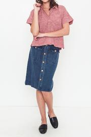 Movint Denim Knee Skirt - Back cropped