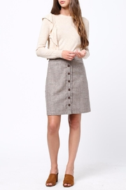 Movint Front Button Down Skirt - Back cropped