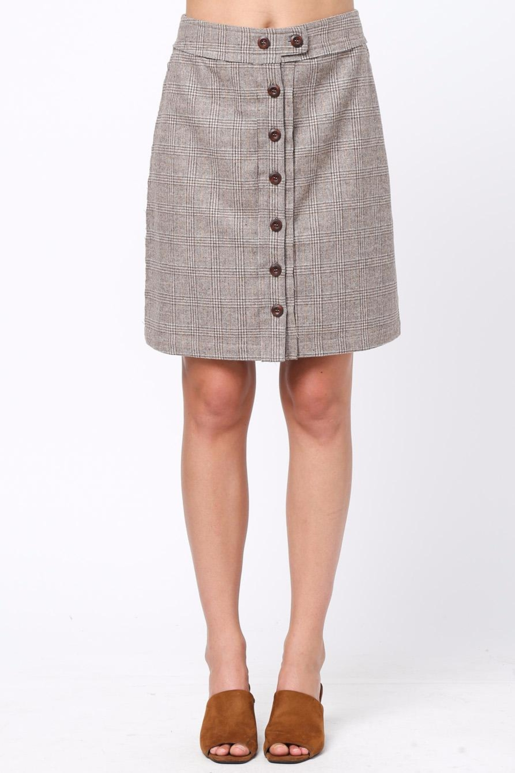 Movint Front Button Down Skirt - Main Image