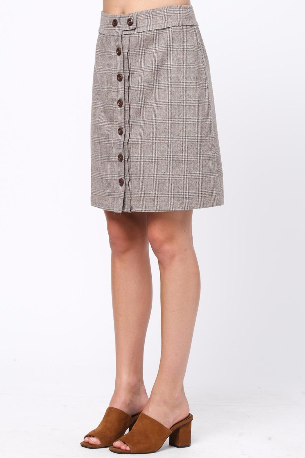 Movint Front Button Down Skirt - Side Cropped Image