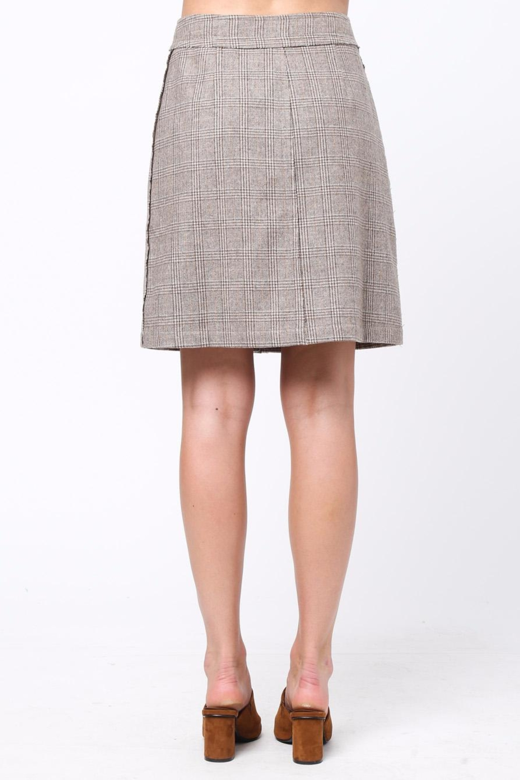 Movint Front Button Down Skirt - Front Full Image