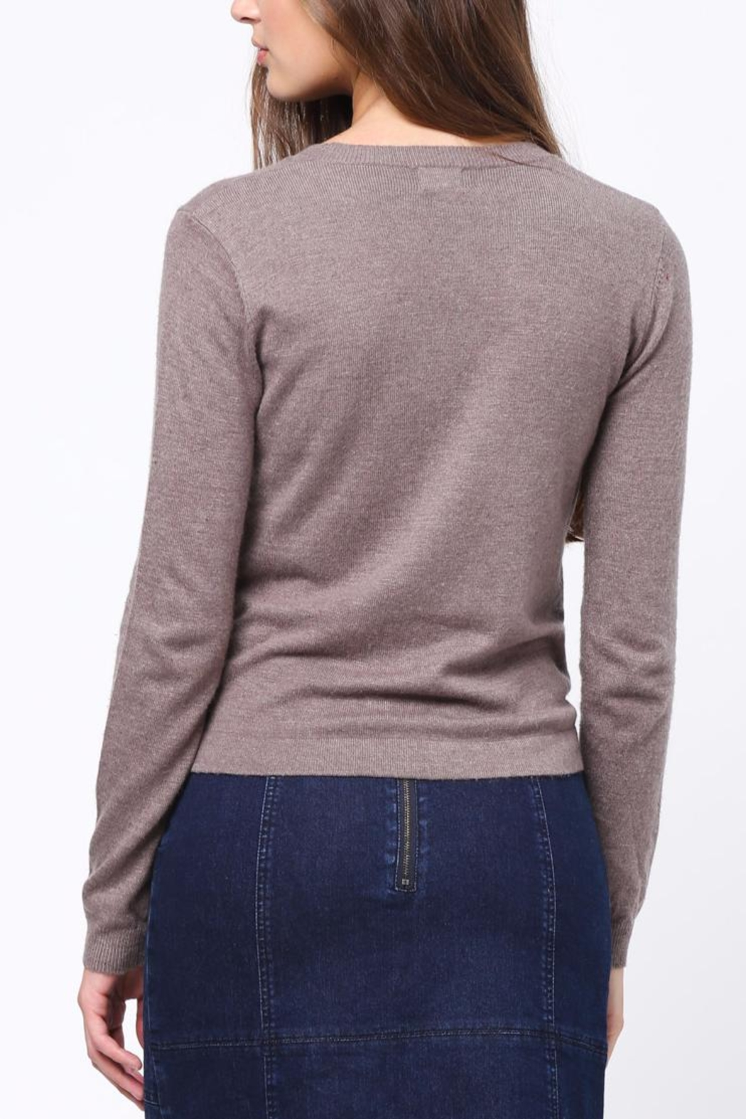 Movint Front Knot Detail Sweater - Front Full Image