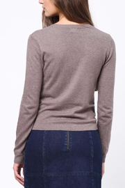 Movint Front Knot Detail Sweater - Front full body