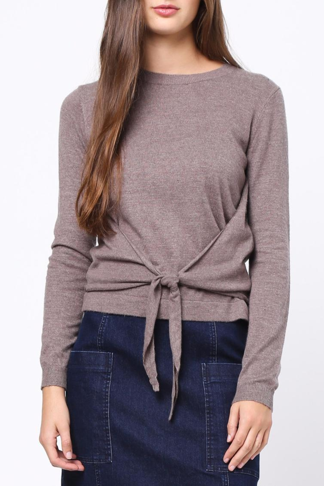 Movint Front Knot Detail Sweater - Main Image