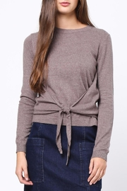 Movint Front Knot Detail Sweater - Front cropped
