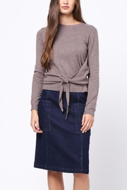 Movint Front Knot Detail Sweater - Back cropped