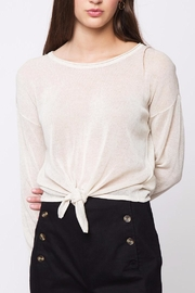 Movint Front Knot Sweater - Front cropped