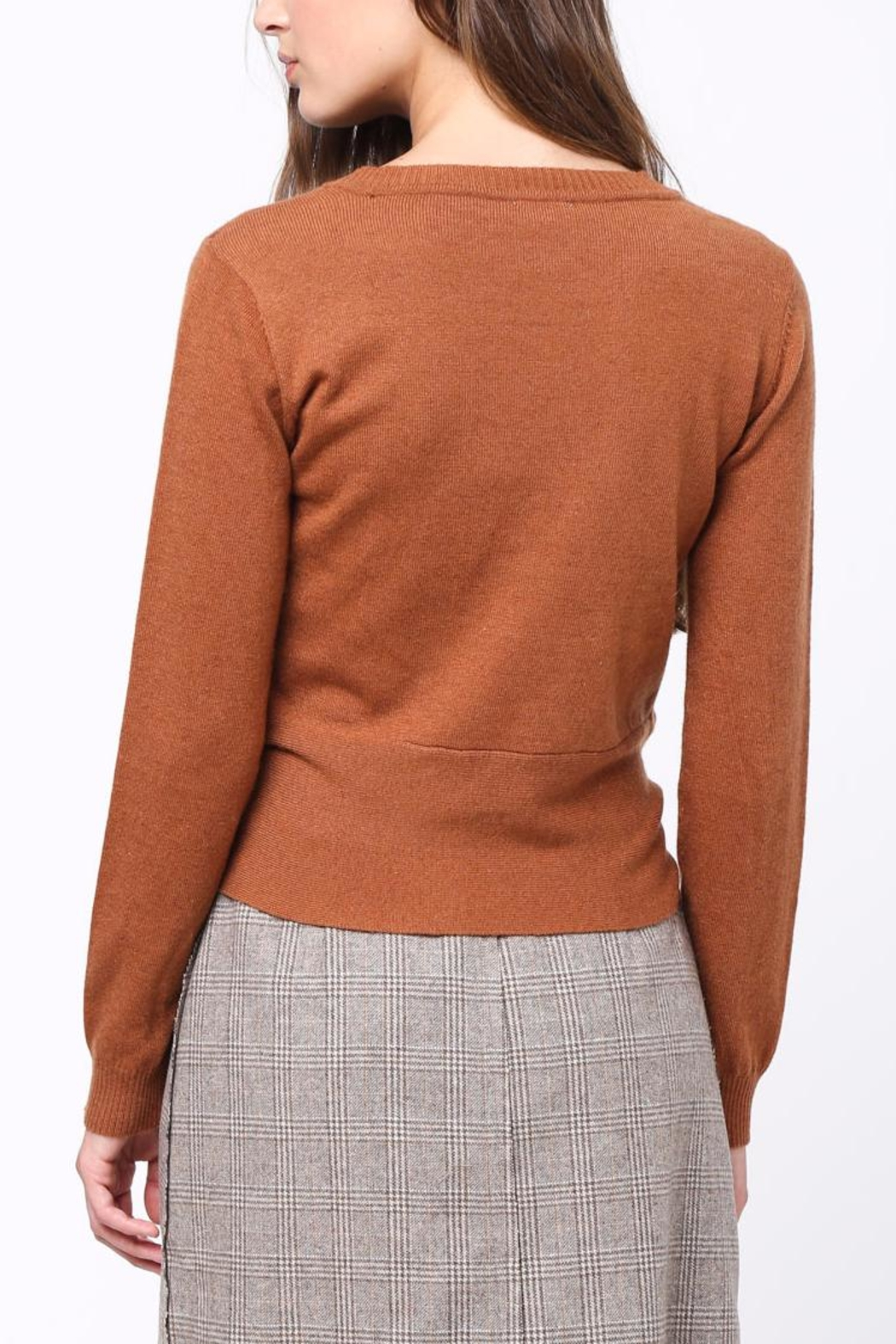 Movint Front Knot Sweater - Front Full Image