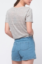 Movint Front Tie Shirt - Back cropped