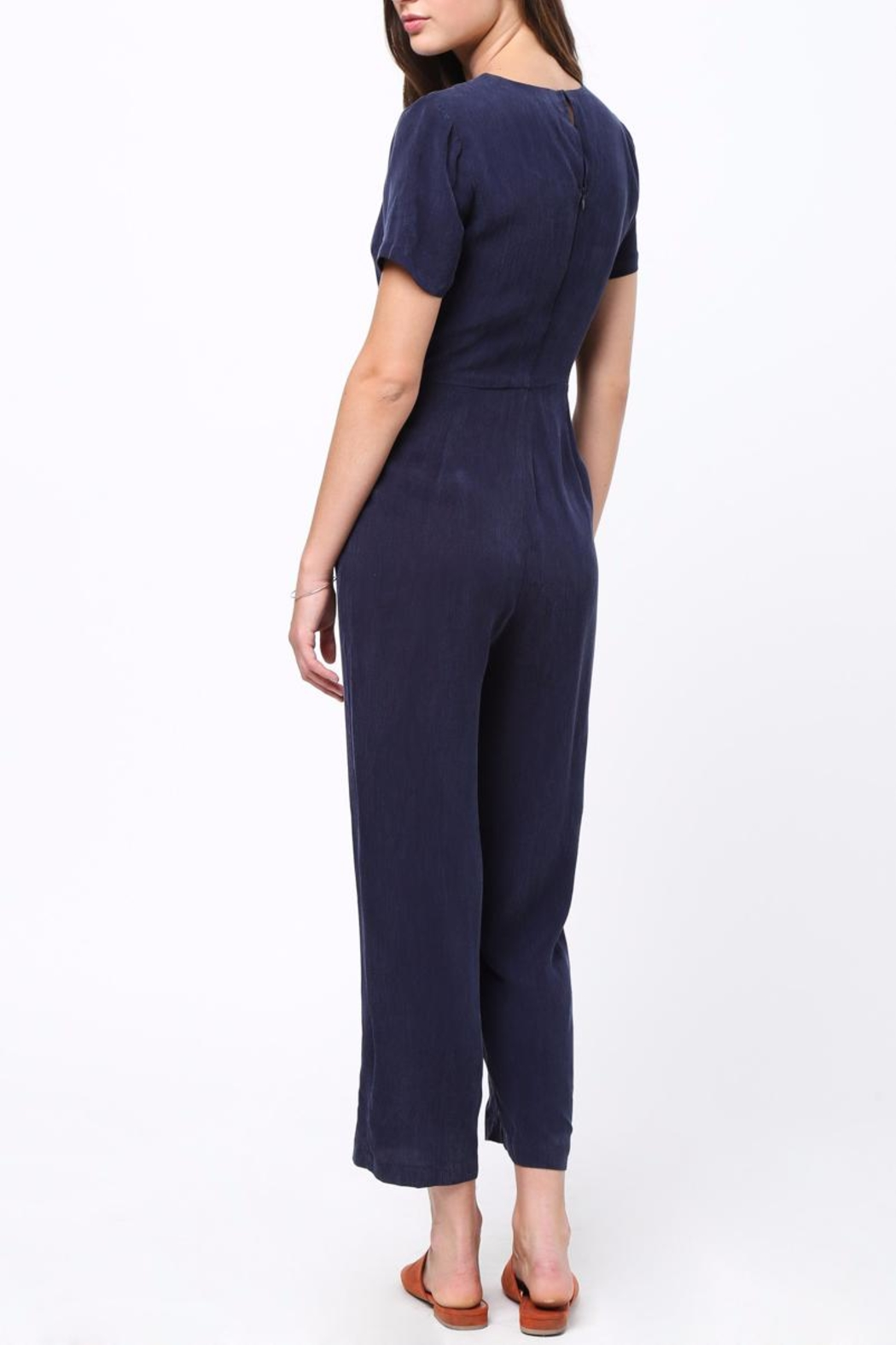 Movint Front Tie Detailed Jumpsuit - Front Full Image