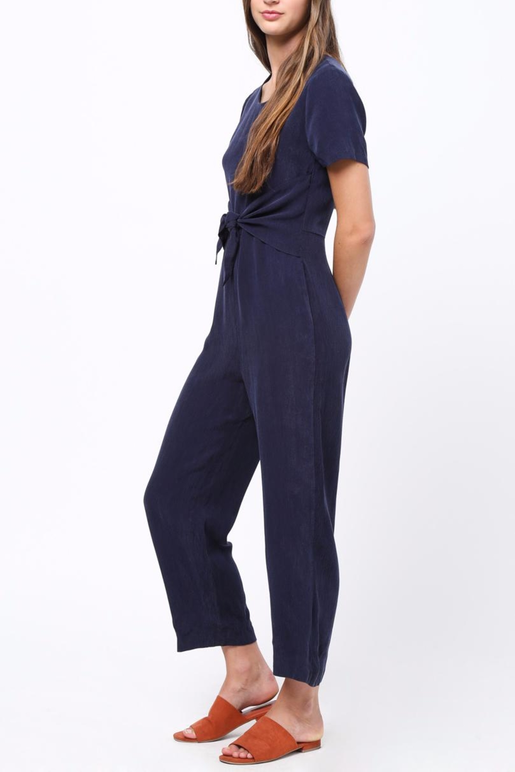 Movint Front Tie Detailed Jumpsuit - Side Cropped Image