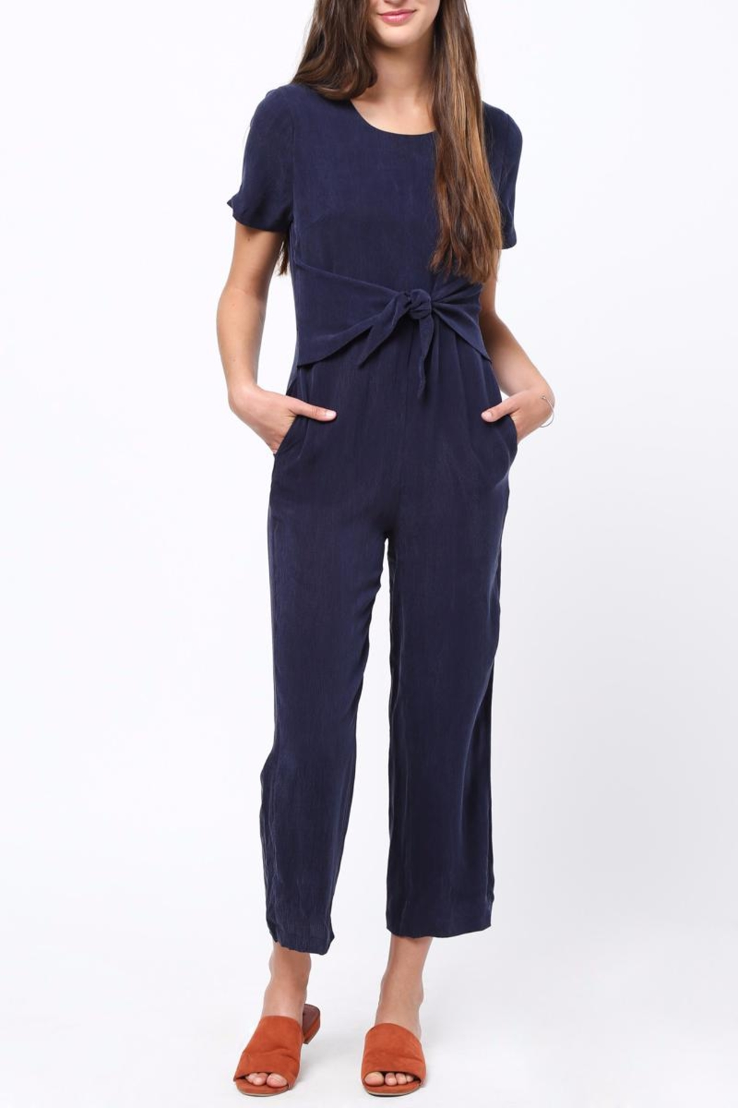 Movint Front Tie Detailed Jumpsuit - Front Cropped Image