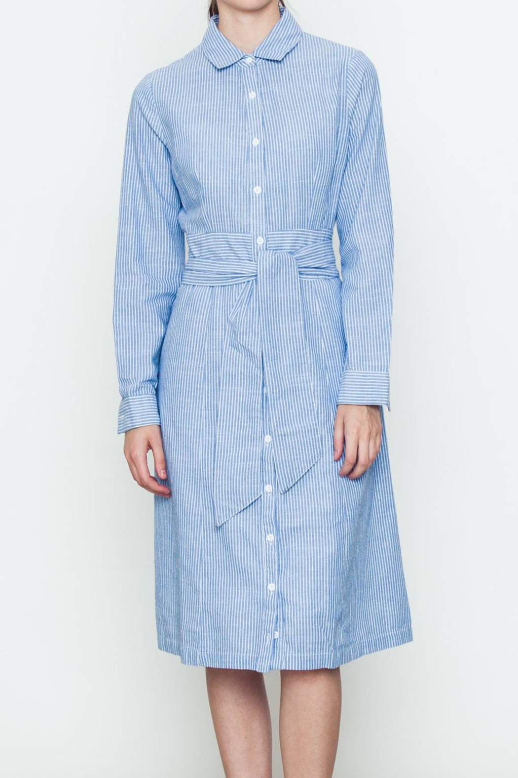 Movint Front Tie Shirt Dress - Main Image