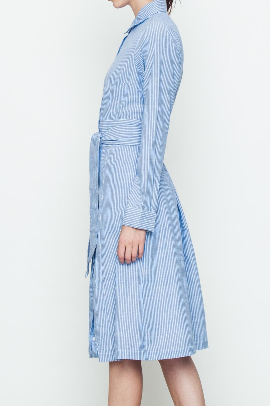 Movint Front Tie Shirt Dress - Front Full Image