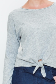 Movint Front Tie Sweater - Back cropped
