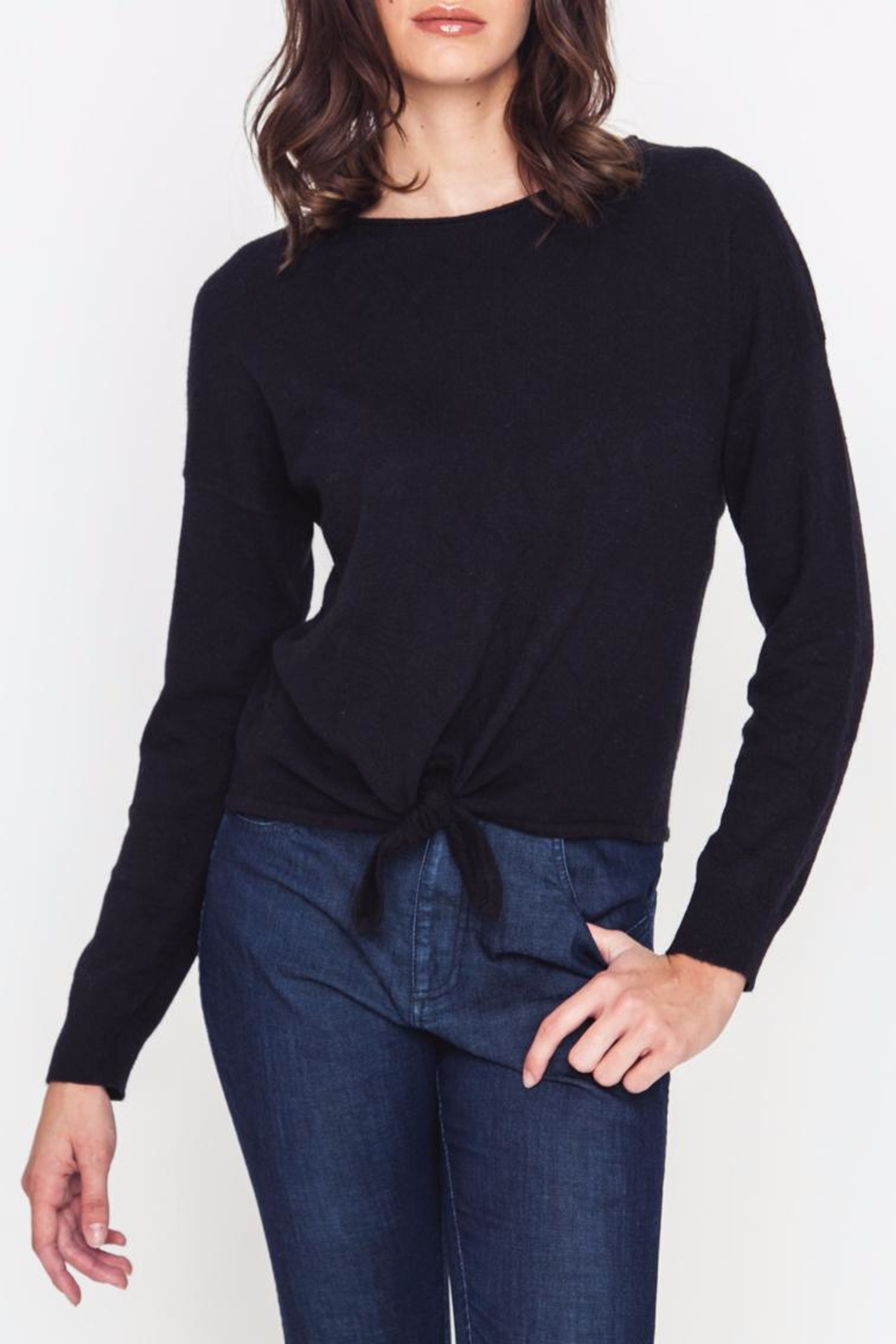 Movint Front Tie Sweater - Front Full Image