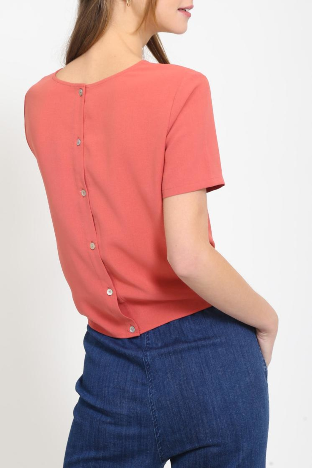 Movint Front Tie Top - Side Cropped Image