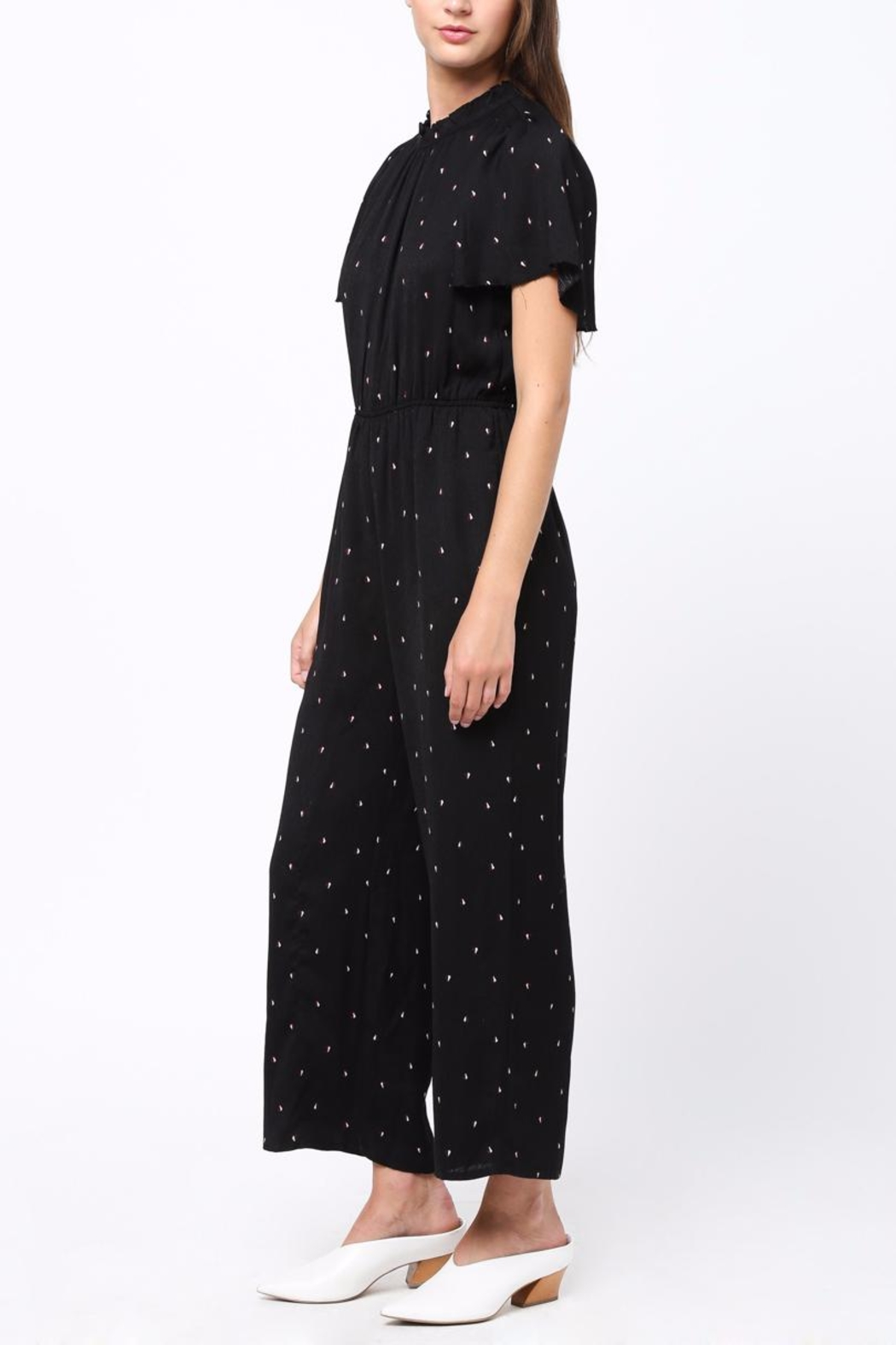 Movint Fuffled Sleeve Jumpsuit - Side Cropped Image