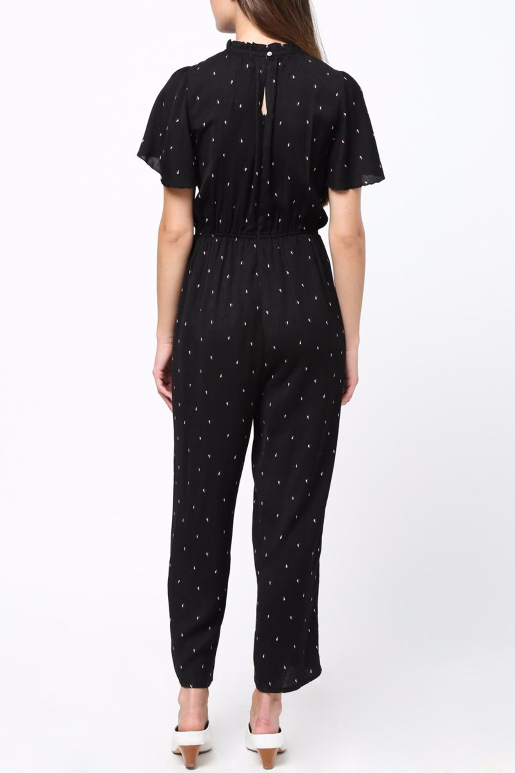 Movint Fuffled Sleeve Jumpsuit - Front Full Image