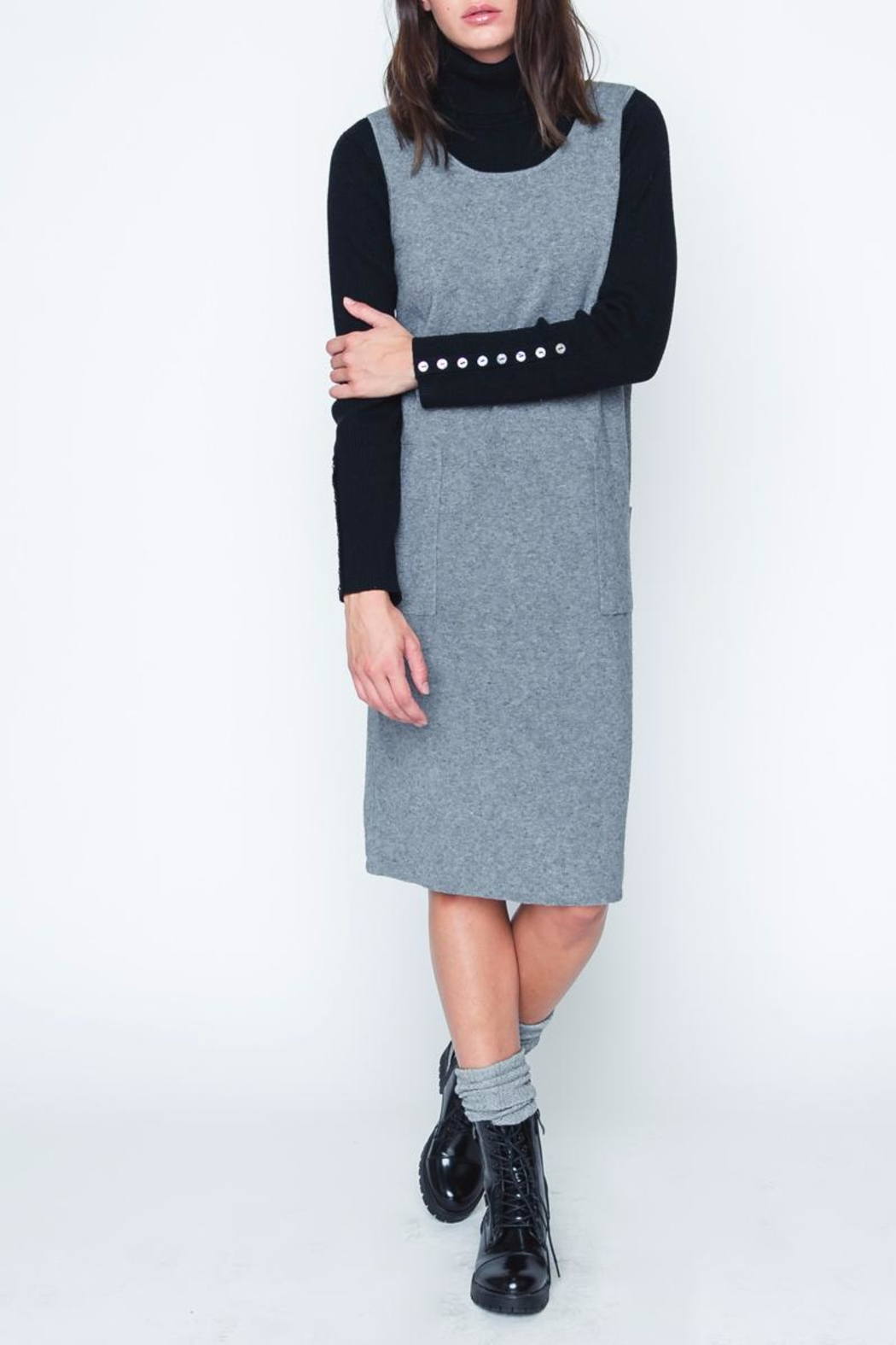 Movint Gray Sweater Dress - Main Image