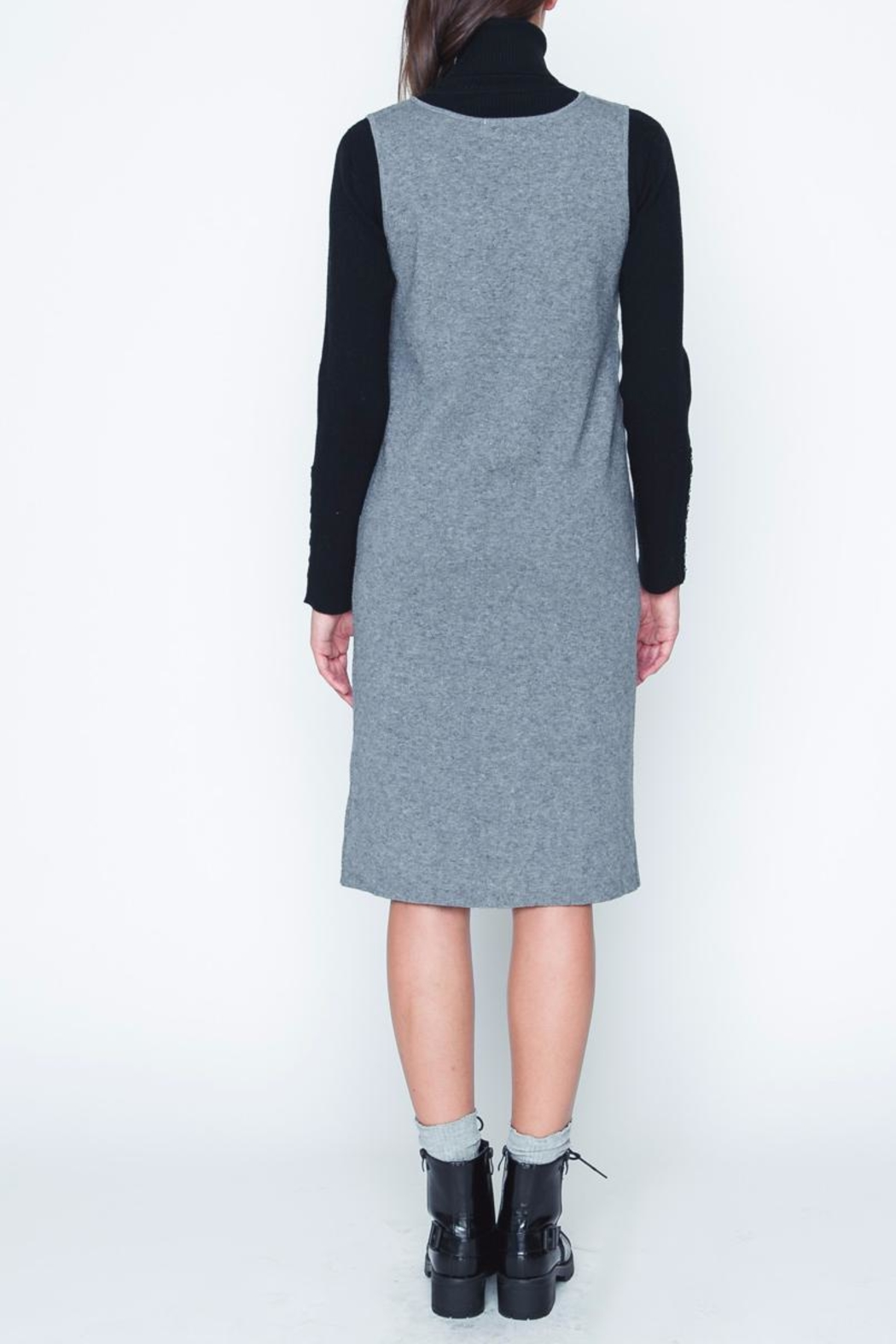 Movint Gray Sweater Dress - Front Full Image