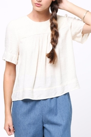 Movint Half Sleeved Peasant Top - Front cropped