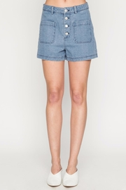 Movint Denim High Waist Shorts - Product Mini Image