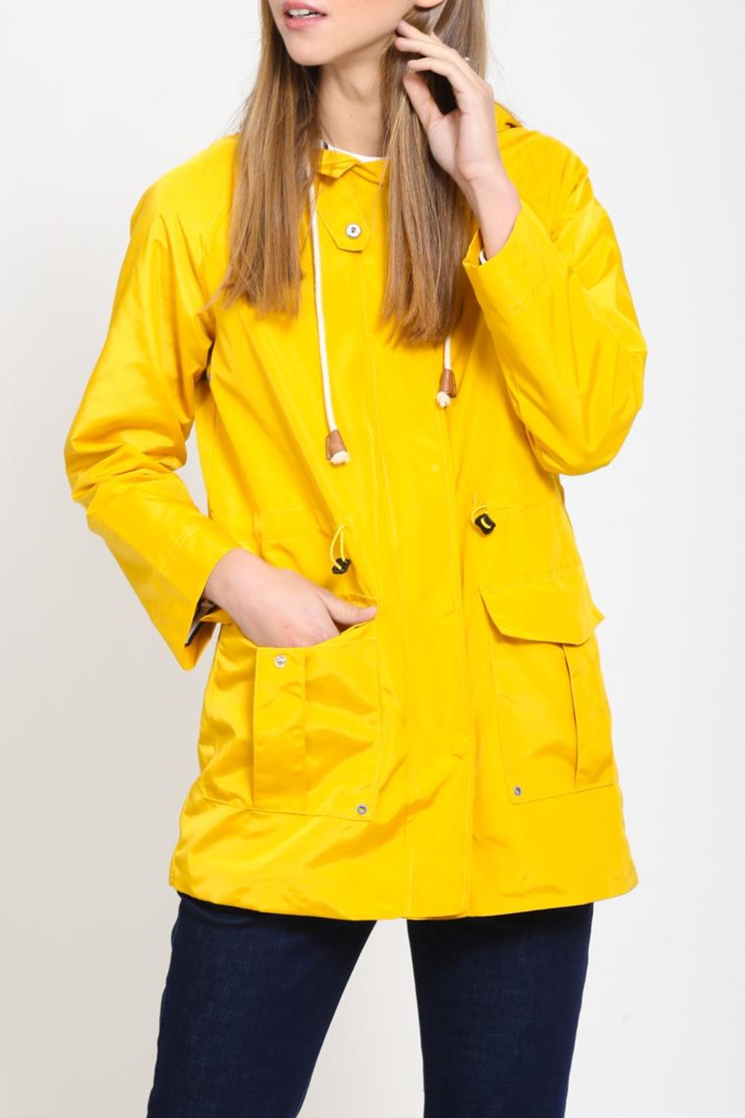 Movint Hoodied Rain Jacket - Back Cropped Image