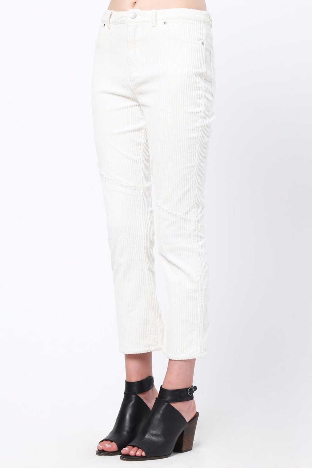 Movint Knee Frayed Hem Pants - Side Cropped Image