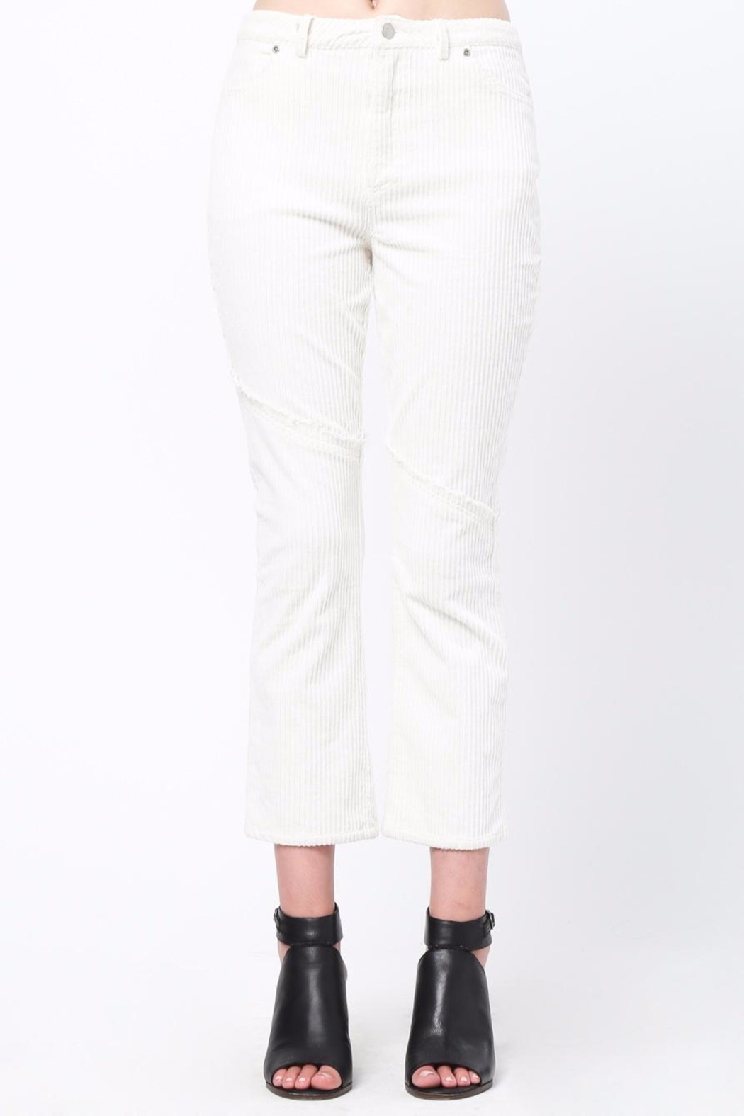 Movint Knee Frayed Hem Pants - Main Image