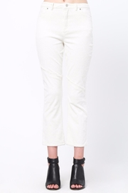 Movint Knee Frayed Hem Pants - Front cropped