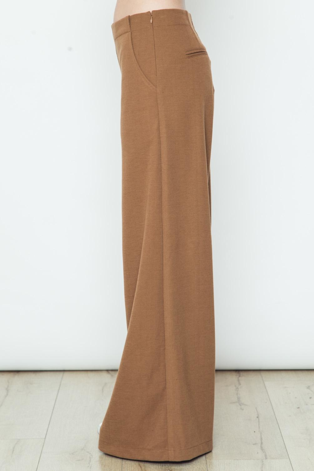Movint Knit Wide Legs Pants - Front Full Image