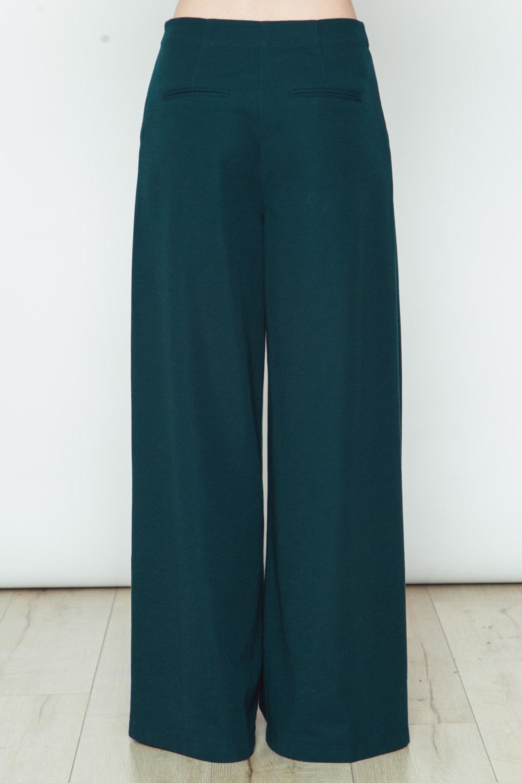 Movint Knit Wide Legs Pants - Side Cropped Image