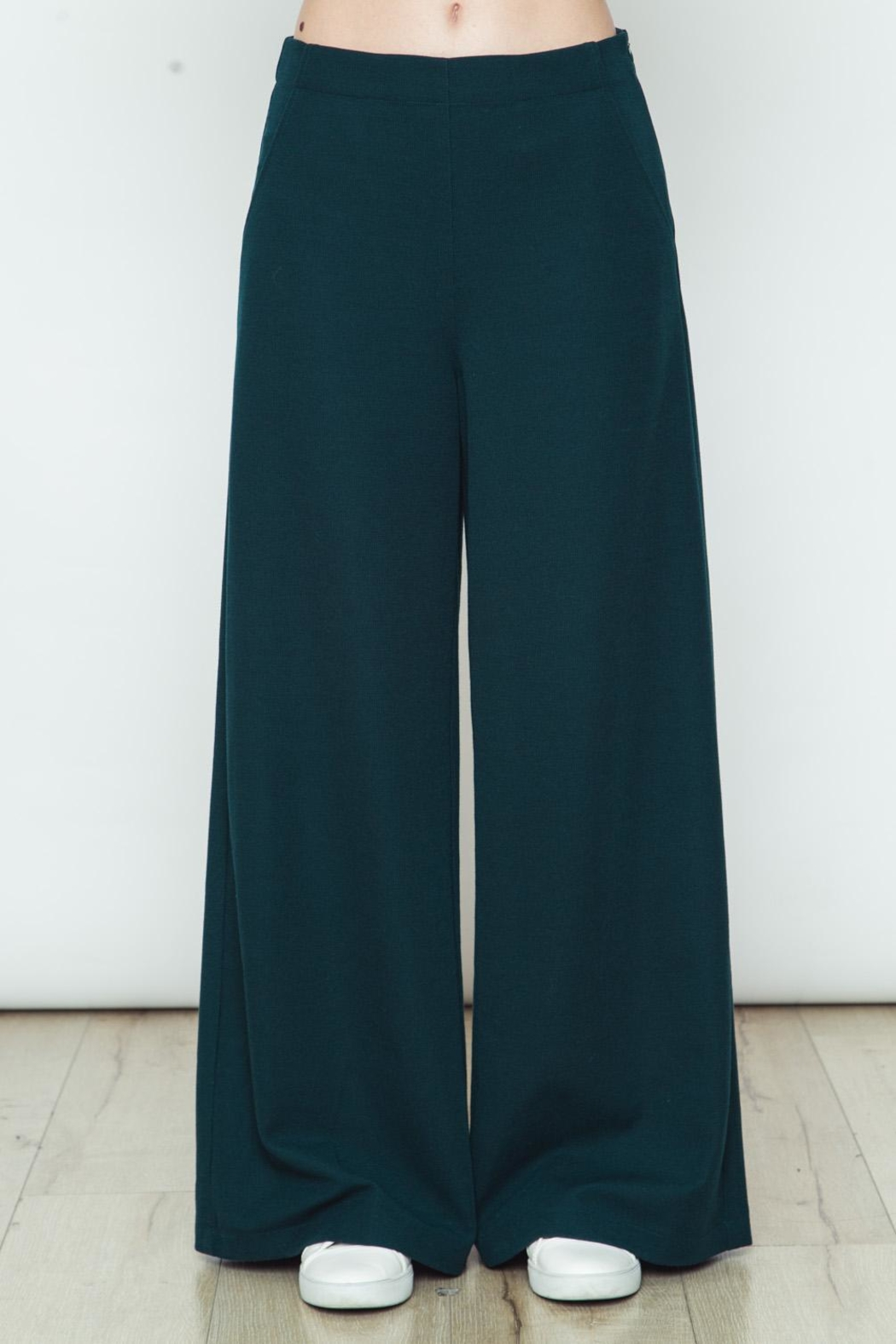 Movint Knit Wide Legs Pants - Front Cropped Image