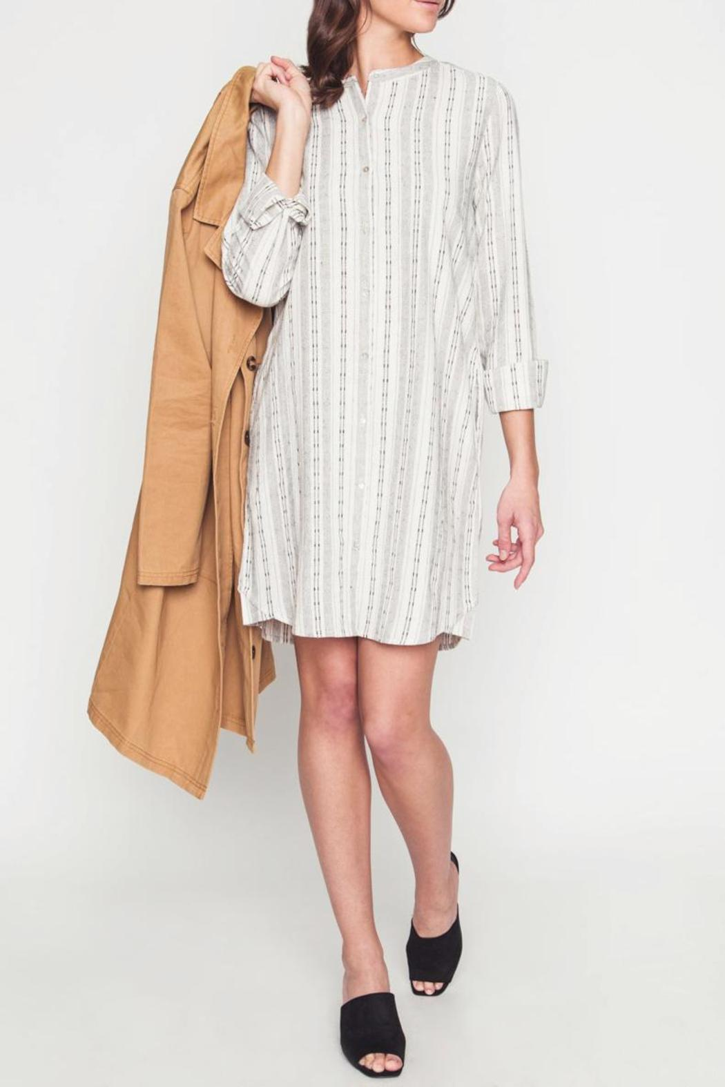 Movint Button-Down Dress - Back Cropped Image