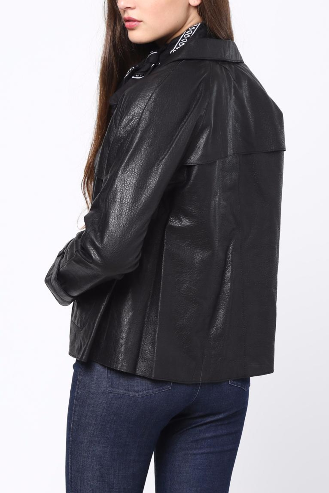 Movint Leather Jacket - Front Full Image