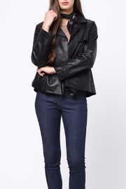 Movint Leather Jacket - Back cropped