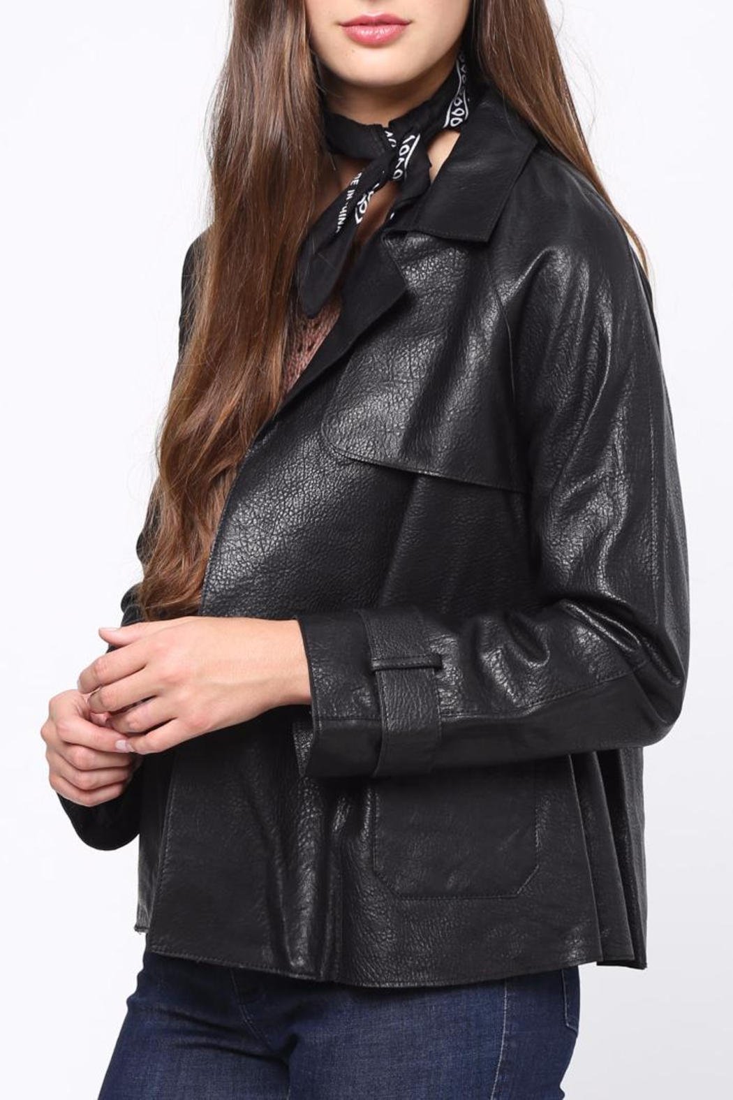 Movint Leather Jacket - Side Cropped Image