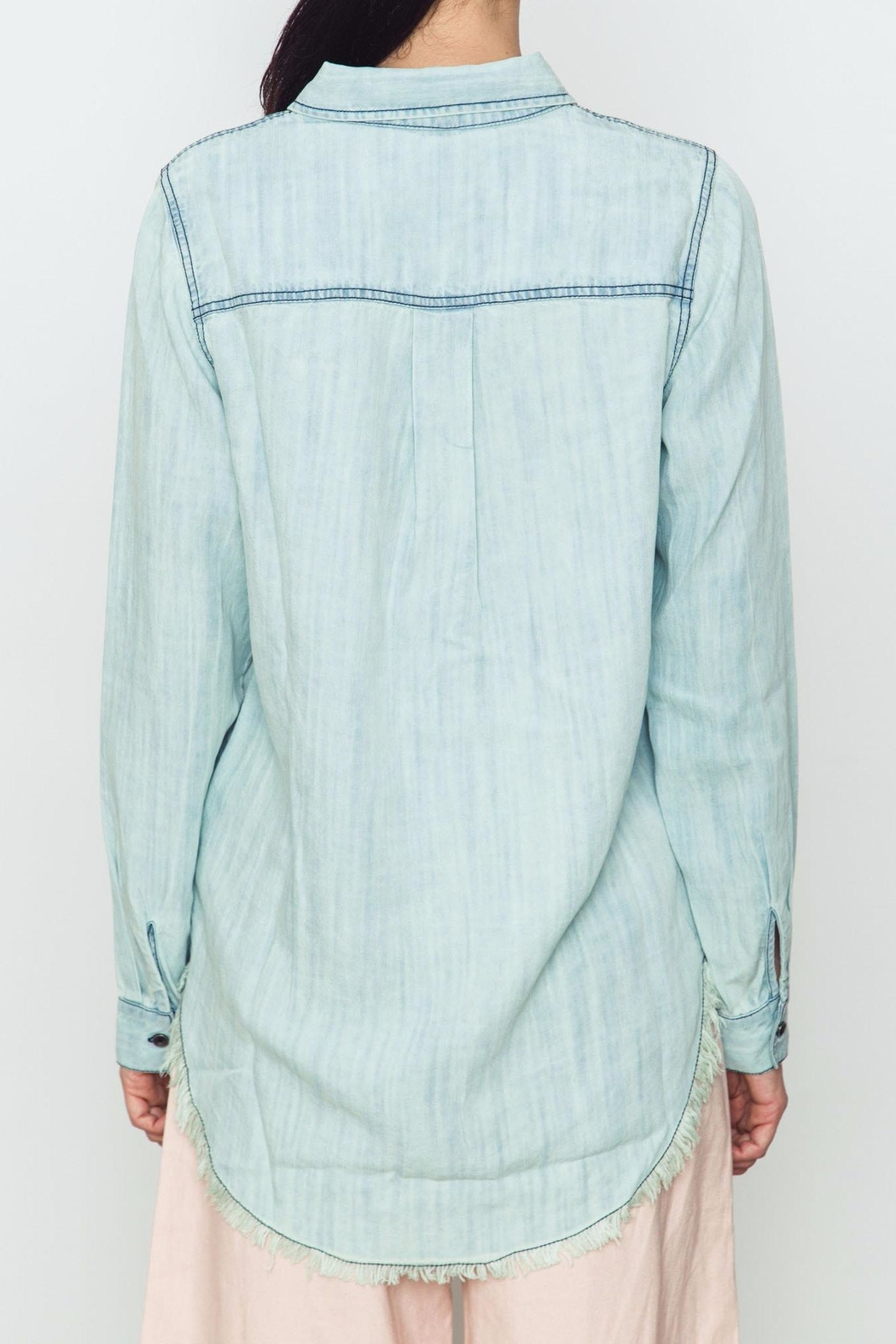 Movint Light Denim Shirt - Side Cropped Image