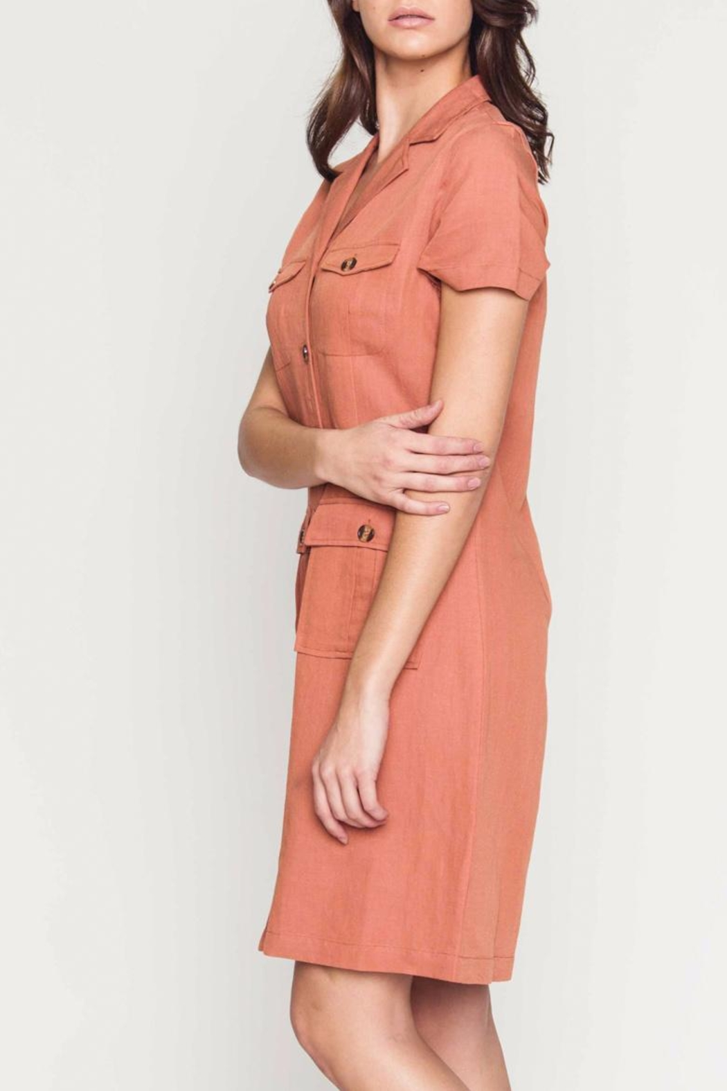 Movint Linen Cargo Dress - Front Full Image