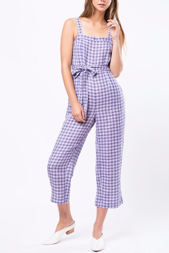 Movint Checkered Jumpsuit With Belt - Product List Image